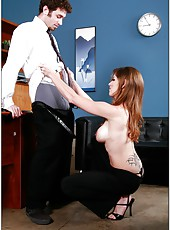 Exceptional honey with big tits named Felony got a dick between her butt