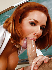 Redhead teacher Veronica Avluv enjoys delightful ventures in the classroom