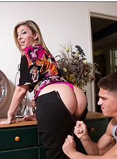 Naughty mom Sara Jay getting undressed and fucked hard in her big ass