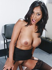 Busty, gorgeous and sweet Priya Anjali Rai presents awesome action in the office