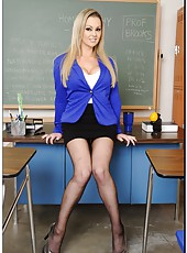 Amazing fuck with an elegant and sexy teacher named Abbey Brooks
