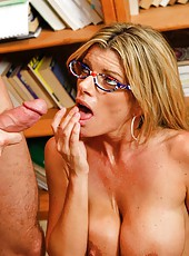 Kristal Summers opens her shaved pussy and takes a cock for a hot action