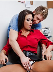 Wild and hardcore fuck with a nasty dark haired milf Jessica Jaymes