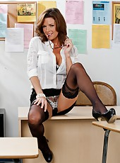 Veronica Avluv rubs her juicy pussy and gets her fucker