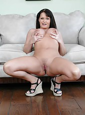 Amazing Milf Maya Divine showing her marvelous looks while wearing a dress