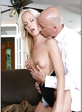 Seductive whore Eden Adams enjoying some hard cock in her mouth and pussy