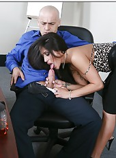 Hot brunette milf Jenaveve Jolie with big boobs gets owned by hard cock