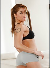 Three sassy and arrogant hotties Daisy Marie, Kirsten Price and Charmane Star in the lesbian action