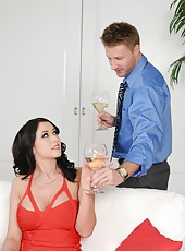 Great porn action with a horny and dangerous brunette milf Alexis Grace