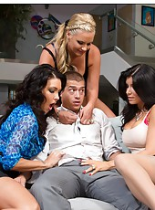 Hardcore foursome with Jessica Jaymes, Phoenix Marie and Romi Rain