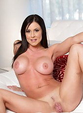 Awesome milf with huge tits Kendra Lust takes off her sexy lingerie