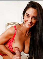 Sexy brunette woman with model-quality young body Ava Addams and a lot of experience