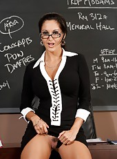 Stunning brunette milf with excellent body Ava Addams amazes her student