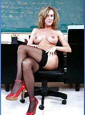 Playful mature teacher Mrs. Brandi Love has everything to make students cum