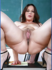 All natural milf teacher Melissa Monet knows how to seduce a young student
