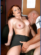 Redhead milf with big boobs Kylie Ireland fucked by a tattooed lover