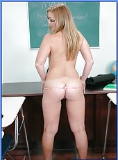 High school teacher Amber Star satisfies her sexual hunger with the worst student