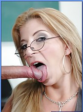 Super busty teacher with delicious body Sara Jay fucking with her student
