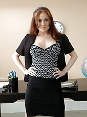 Super slender and buxom Mrs. Ginger Lea proves that geography can be pleasant