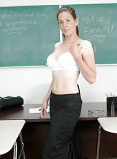 Pale-skinned Mrs. Trisha puts good marks after good trimmed pussy fuck