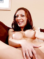 Big titted Alexandra Diamond poses and gets her hairy pussy fucked
