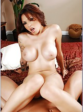 Amazing milf with big tits and Asian notes Adrenalynn banged by big dick