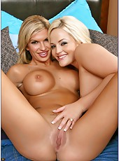 Crazy hot bisexual blondes Alexis Texas and Kendall Brooks are glad to get a cock