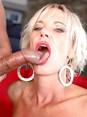 Nasty blonde mature Cara Lott fucks like a horny slut with her new fucker