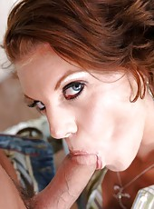 Engaging mature lady Kayla Quinn seduces with her hot tits and perfect pussy