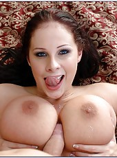 Appetizing milf with huge melons Gianna Michaels fucked after hot posing