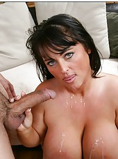 Passionate fuck with a horny and busty brunette slut named Indianna Jaymes