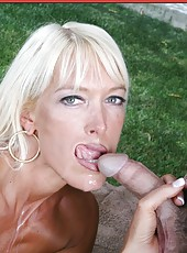 Crazy outdoor porn action with a great blonde angel named Bianca Noble