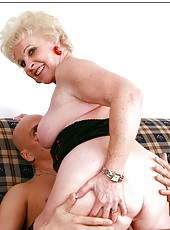 Unpredictable mature Mrs. Jewell doing dirty things with young guys