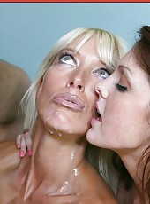 Fashionable whore Bianca Noble getting dirty in an awesome threesome