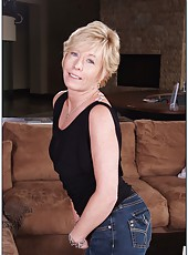 Creamy skinned milf Chanel Carrera taking off jeans and fingering