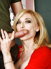 Divine mature Nina Hartley showing cool ass and getting a deep anal sex