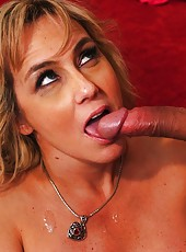 Stylish bitch Wanda Lust prefers swallowing dicks and getting cumshots