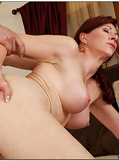 Cool mature Catherine de Sade licking fingers and getting nailed