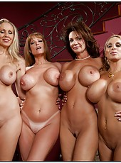 Flawless wife Darla Crane stripping with hot moms and showing boobs