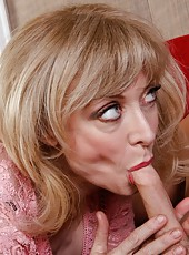 Glamorous babe Nina Hartley getting naughty with her young neighbor