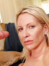 Chic mature Emma Starr makes a first-class deepthroats to strangers