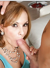 Fantastic slut Rebecca Bardoux doing amazing things with young dicks