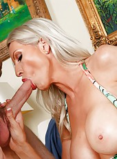 Nasty pornstar Emma Starr shows a perfect blowjob and gets pounded