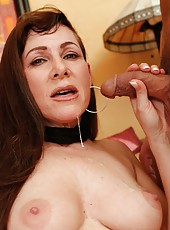 Erotic lady Alexandra Silk prefers making deepthroats and getting cum