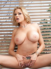 High-class slut Briana Banks showing dreamy body and posing in lingerie