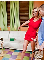 Victorious mature Camryn Cross prefers to bang only with young fellows