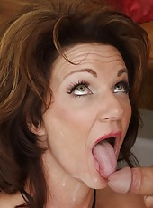 Naughty babe Deauxma making cool deepthroats and riding big cocks