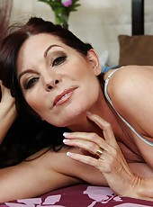 Fascinating milf Magdalene St. Michaels stripping and fingering sissy