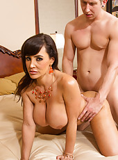 Exquisite prostitute Lisa Ann prefers getting naughty with young chaps