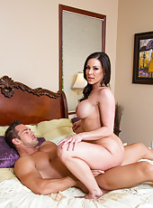 Elegant pornstar Kendra Lust playing with her friend in adult games